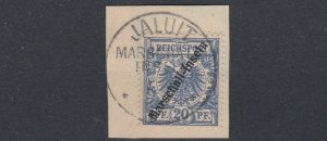 MARSHALL  ISLANDS  1897 - 00  S G G4  20PF  ULTRAMARINE  USED   CAT £130