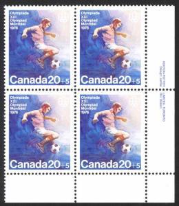 Canada Sc# B12 MNH PB LR 1976 20+5¢ Soccer
