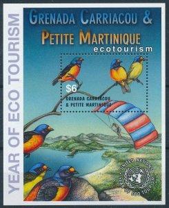 [108782] Gren. Carriacou & Petite Martinique 2002 Birds Eco tourism Sheet MNH