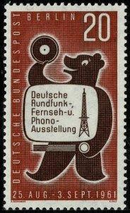 GERMANY BERLIN 1961 BROADCASTERING EXH. MINT (NH) SG B212 Wmk.294 P.14 SUPERB
