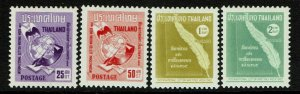 Thailand SC# 386-389, Mint Hinged, Hinge Remnant - S13277