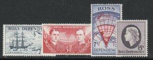 Ross Dependency, Sc L5-L8 (SG 5-8), MNH, (CV $57.00)