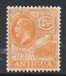 Antigua Sc 50 1923 2 1/2 d orange G V St Johns Harbor stamp mint