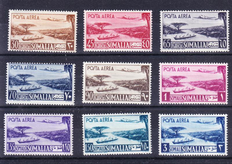 Somalia Airmail set of 1950 Complete (11) VF/Mint(*)