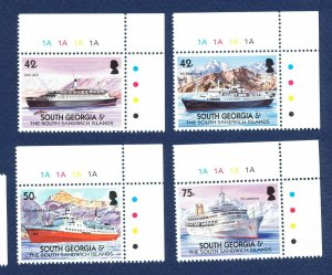 SOUTH GEORGIA - # 303-306 - MNH -   Merchant Ships - 2004
