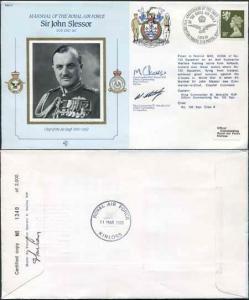 CMD11a RAF COMMANDERS SERIES Sir John Slessor signed Gp Capt Peaker (K)