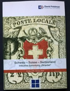 Auction Catalogue GIRARDET CLASSIC SWITZERLAND Stamps Covers Postal History