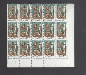 Australian Stamps Mint 1971 Aboriginal Art 35c Plate Block 15 MUH Mint Grave Po