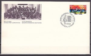 Canada, Scott cat. 1010. Montreal Symphony Orchestra issue. First day cover. ^