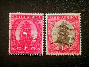 South Africa - 1/2d- Union of South Africa-used Red and black SG 31