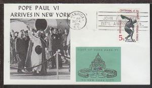 Pope Paul VI Arrives in New York 1965 Cover
