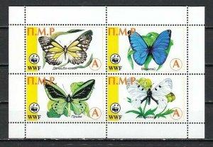 Transnistria, Russian Local. 17-22. Butterflies sheet of 4. ^