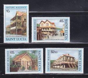 St Lucia 645-648 Set MNH Architecture