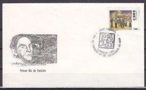Peru, Scott cat. 941. Musicians Painting issue. First day cover. ^