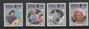 TRISTAN DA CUNHA #372- 375  1985 QUEEN MOTHER 85TH BIRTHDAY    MINT VF NH  O.G