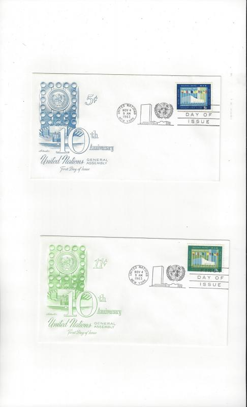 UN New York FDC 119-20 General Assembly Building Artmaster Cachet