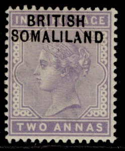 SOMALILAND PROTECTORATE EDVII SG3, 2a pale violet, M MINT.