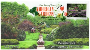 20-122, 2020, American Gardens, Digital Color Postmark, First Day Cover, Wintert