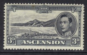 Ascension Island 1940 KGV1 3d Black & Grey MM SG 42a ( F71 )