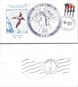 1966 USS BURTON ISLAND + CACHET, 1966, Polar