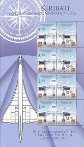 Kiribati - 2006 Concorde Airliner- 8 Stamp Sheet 11p-004