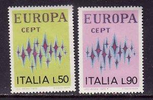 Italy-Sc#1065-6-unused NH set-Europa-1972-