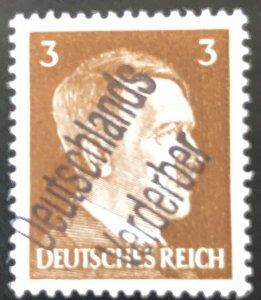 Germany-1945 WWll 3rd Reich-Hitler-Liberation-Ovpt 3-Deutschland Verderber-MNH