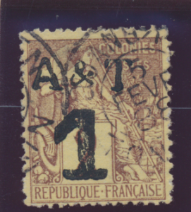 Annam & Tonkin Stamp Scott #1, Used - Free U.S. Shipping, Free Worldwide Ship...