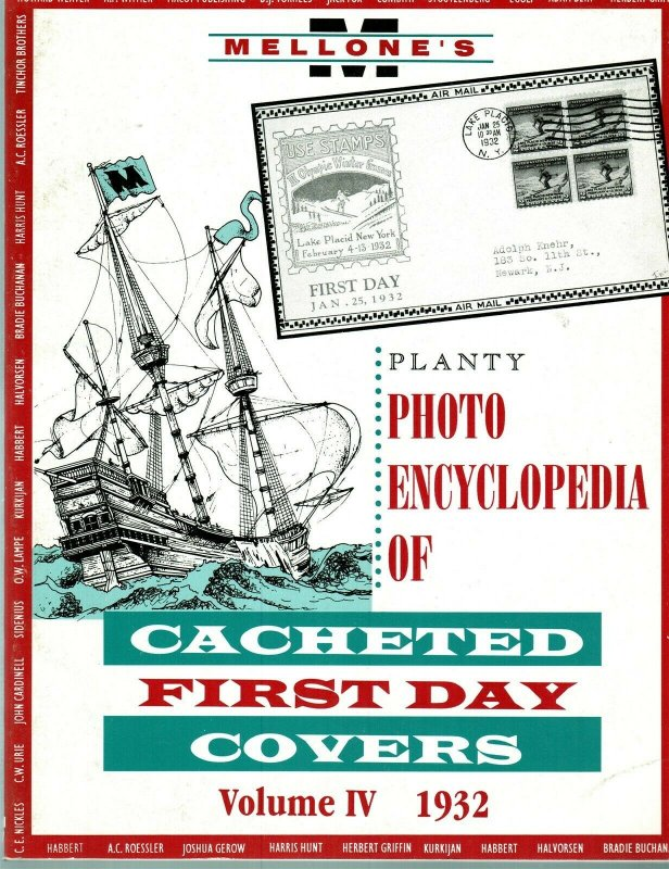 Mellone Planty Photo Encyclopedia First Day Covers 1932 Volume IV Bound