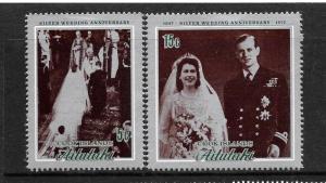 AITUTAKI  1972   SILVER WEDDING   SET 2    MLH     Sc 51/52