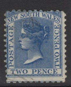 NEW SOUTH WALES SG209a 1884 2d PRUSSIAN BLUE p11x12 USED
