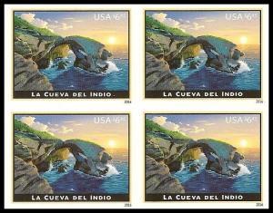 US 5040a Priority Mail La Cueva del Indio $6.45 imperf NDC block MNH 2016