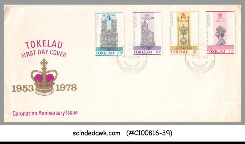 TOKELAU - 1978 25th ANNIVERSARY OF THE CORONATION OF QEII - 4VT - FDC