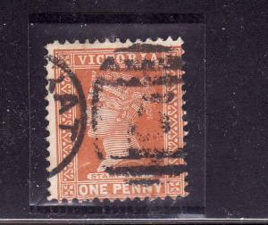 Australian States-Victoria-Sc#169-used-1p org brn-QV-1890-5-