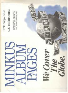 Minkus U.S. Territories 1993 Stamp album page supplement