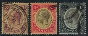 Jamaica #71-3  CV $9.70  (tiny tear on 73)