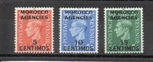 Great Britain - Offices in Morocco 99-101 MNH