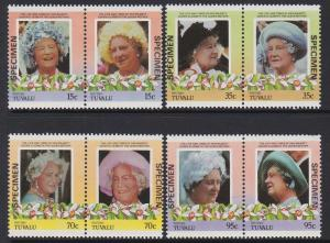 Tuvalu Niutao 1985-86 Queen Mother Specimen MNH