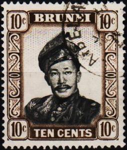 Brunei. 1952 10c. S.G.106 Fine Used