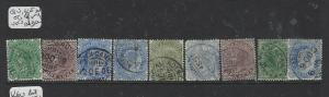 ADEN INDIA USED IN FORERUNNERS  (PP2604B)  QV/KE LOT OF 9     VFU   LOT 4