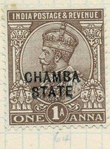 india chamba states- sg 55 -  lmm