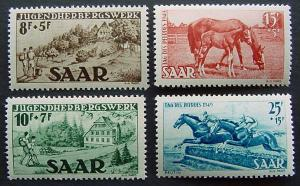 Germany, Saar, Scott B65-B68, All MNH