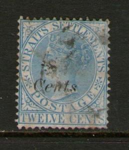 Malaysia S. Setts. 1884 QV SG 74 FU - scarce