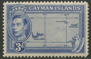 Cayman Islands - Scott 115 - KGVI Definitive -1947 - MVLH- Single 3p Stamp