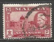 MALAYA SELANGOR 105 VFU O260-6