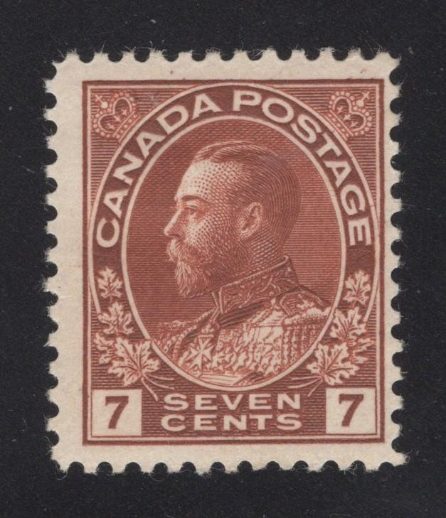 Canada #114 Red Brown - 7 Cents - Unused - O.G.