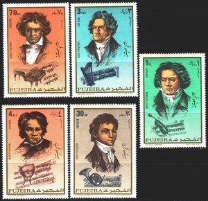 Fujairah. 1971. 732A-36A. Beethoven, composer. MNH.
