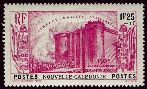 New Caledonia B8 Mint OG VF SCV$13...French Colonies are Hot!