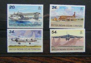 BIOT 1992 Visiting Aircraft set MNH