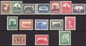 1928 Newfoundland Canada complete MLH set of fifteen (15) Sc# 145 / 159 CV $139